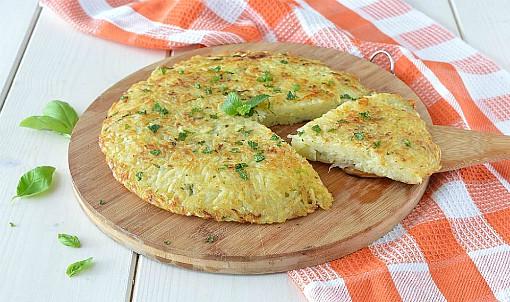Tortino di patate e cipolla in padella