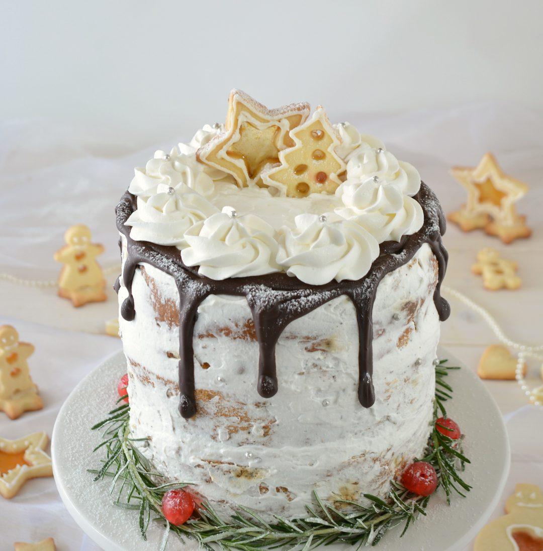 Torte Decorate Per Natale naked cake di panettone - un pizzico di pepe rosa