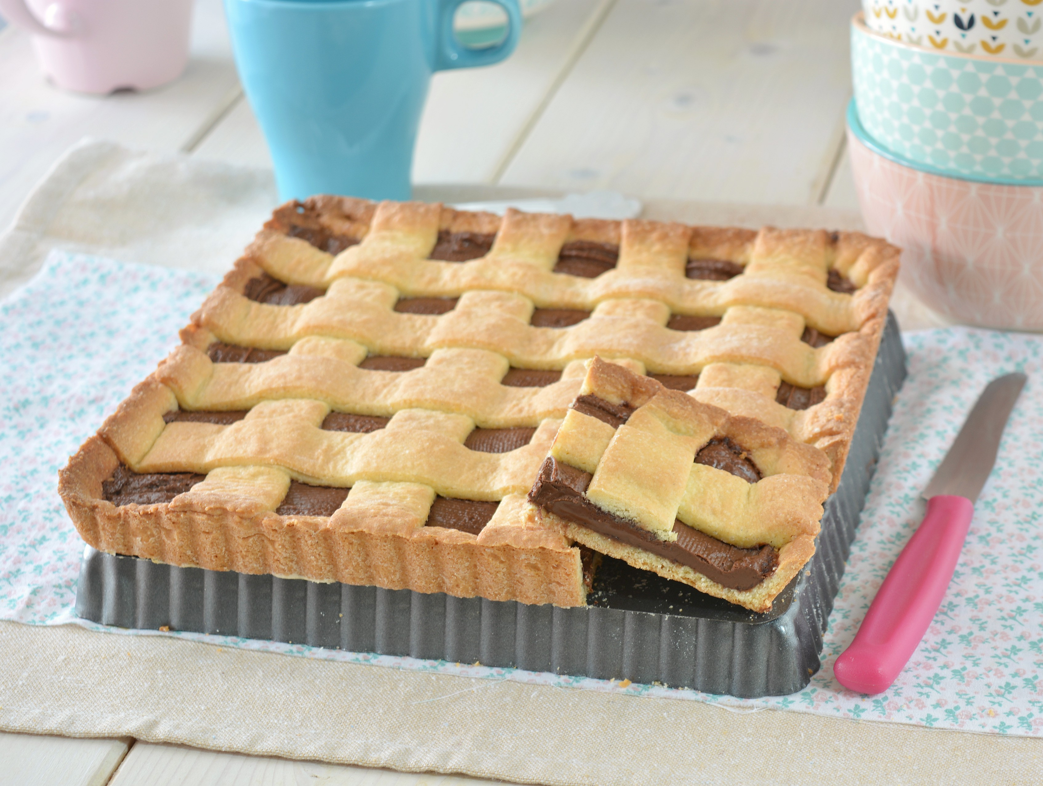 Crostata con pasta frolla pronta in 5 minuti