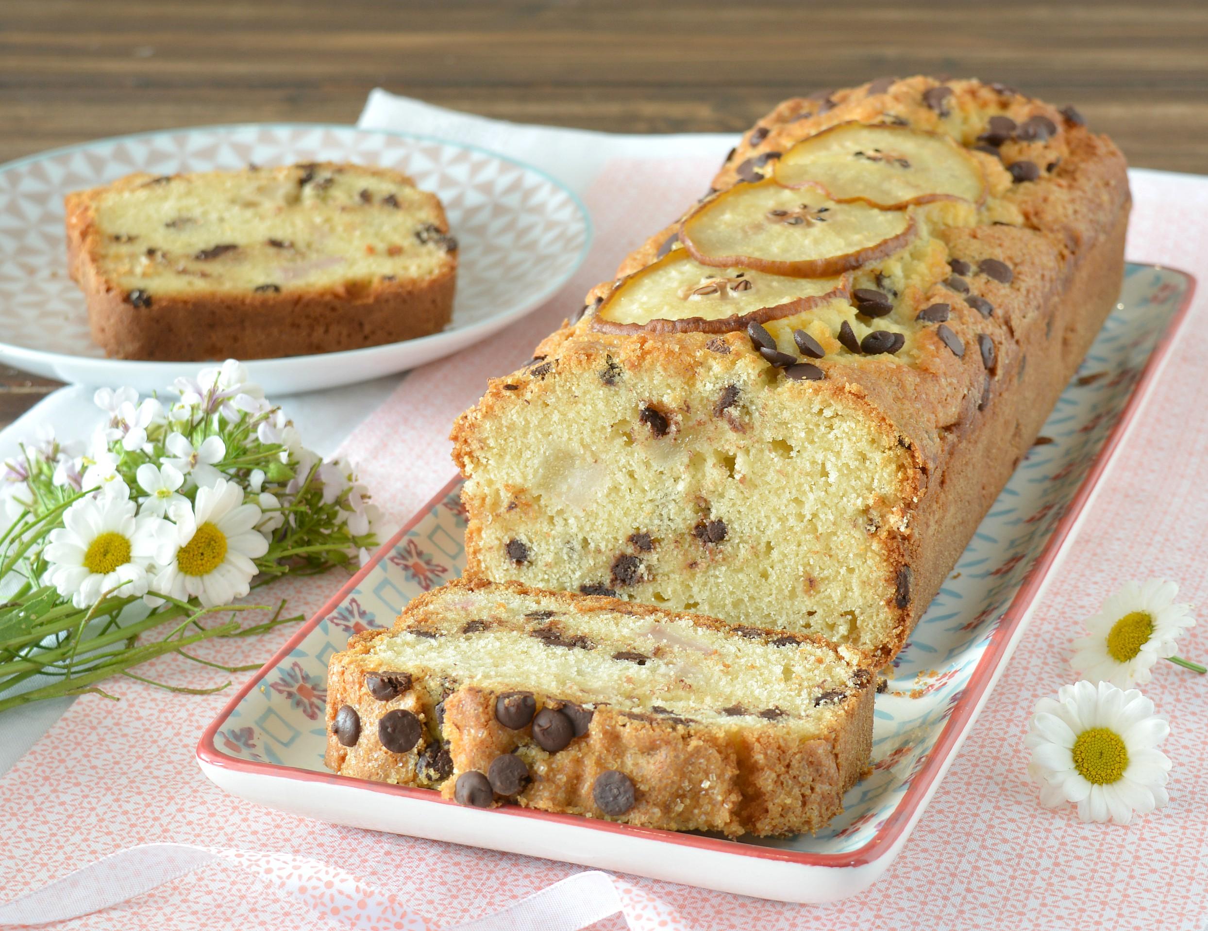 Plumcake alla ricotta con pere e cioccolato