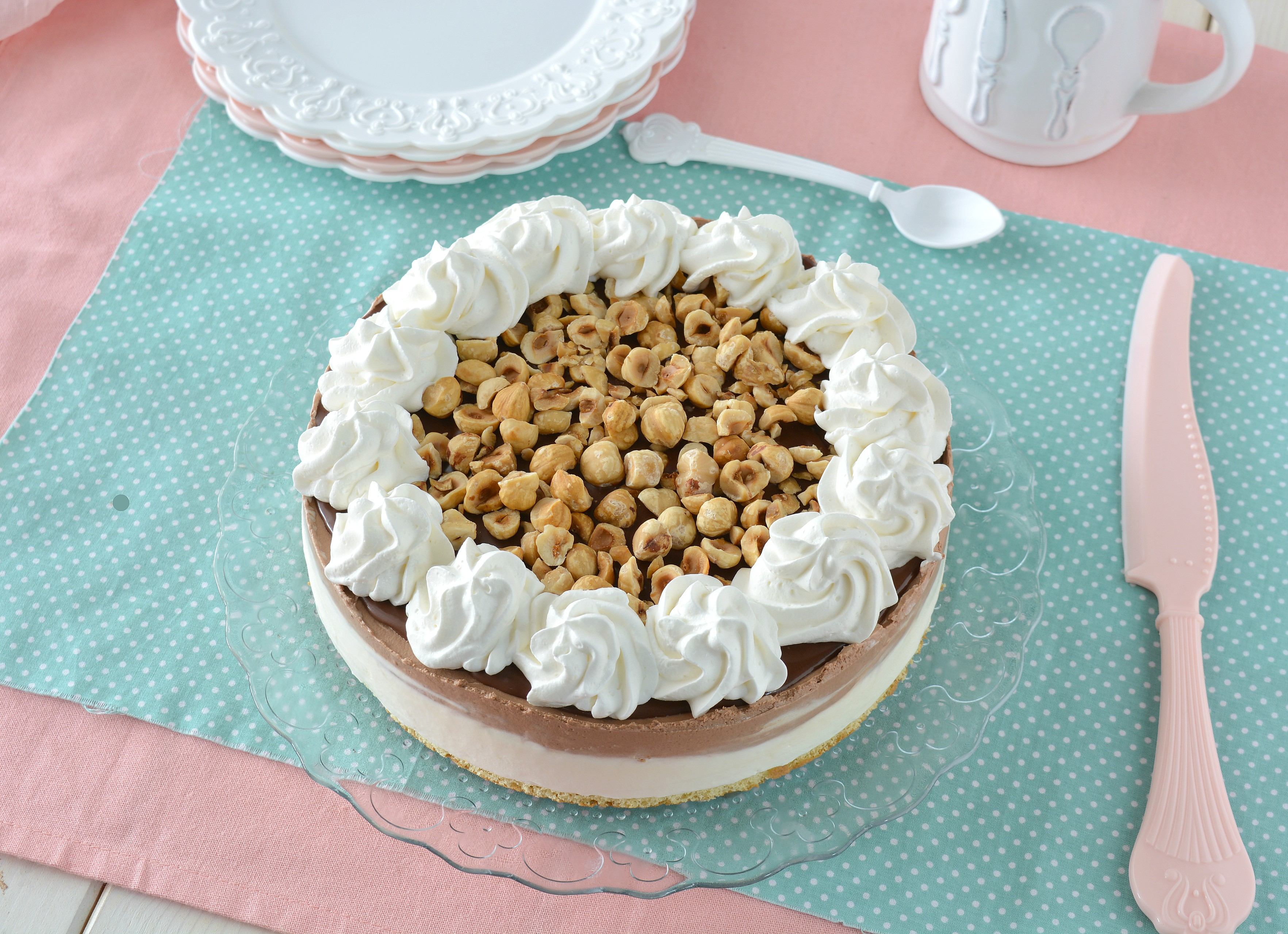 Torta gelato alla panna e cacao senza gelatiera