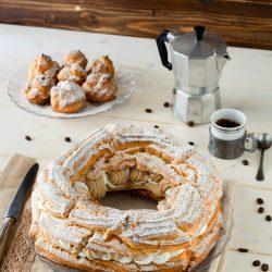 Paris-Brest o Zeppolone con crema al caffè
