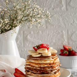Pancakes di albumi e yogurt